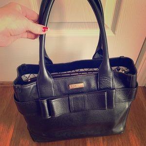 Kate spade black purse bucket handles